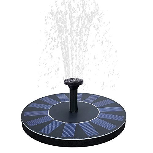 Solar Birdbath Fountain,1.4W Solar Panel Kit Water Pump Solar Powered Floating Fountain Kit Solar Water Fountain for Bird Bath Pond, Pool and Garden Decoration by Towero