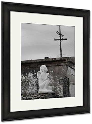Ashley Framed Prints St Louis Catholic Cemetery New Orleans Louisiana USA, Wall Art Home Decoration, Color, 35x30 (frame size), Black Frame, AG6544564 by Ashley Framed Prints