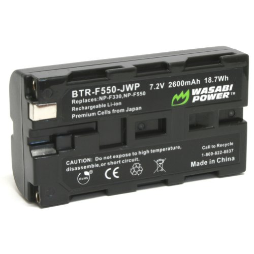 Wasabi Power Battery for Sony NP-F330, NP-F530, NP-F550, NP-F570 (2600mAh) and CN-160, CN-216, CN-126 Series