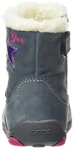 Geox B New Balu' Girl C, Botines de Senderismo para Bebés Gris (DK Grey / Multicolor C1715)