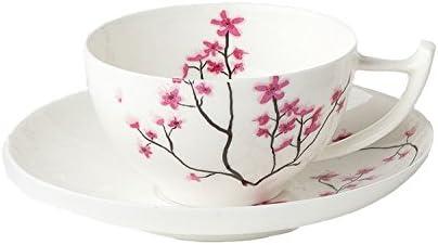Tasse avec soucoupe Cherry Blossom Cerise Fleurs pour 0,1 L Blanc ROSA tealogic