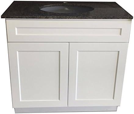 36 W x 21 D New White Shaker Singlesink Bathroom Vanity Base Cabinet