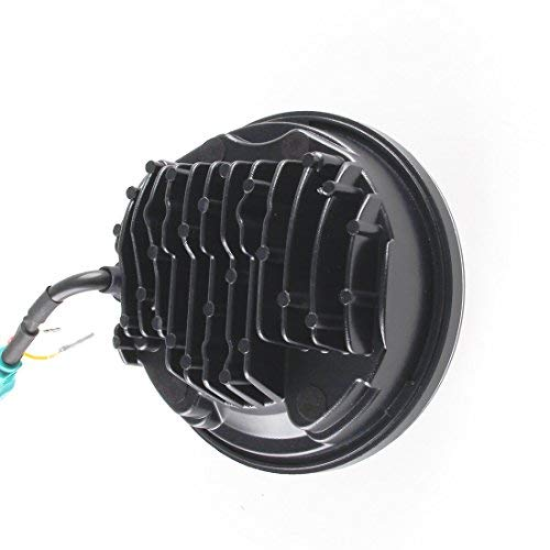 5 3//4/14,6/cm Round Daymaker 45/W Angel Eyes Halo Phare LED Lampe pour Harley Davidson Moto