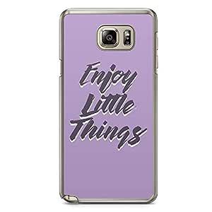 Samsung Note 5 Transparent Edge Phone Case Enjoy Phone Case Purple Typography Phone Cae