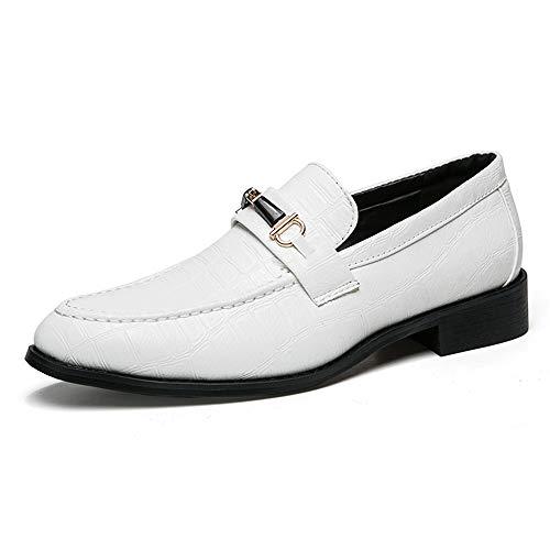 Abbigliamento casual da uomo Oxford Wear Scarpe da lavoro stile inglese moda traspirante,Scarpe Uomo Pelle (Color : Bianca, Dimensione : 41 EU) Bianca