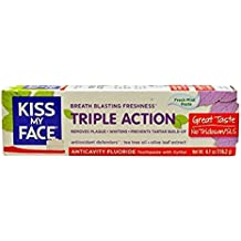 Kiss My Face Triple Action Anticavity Toothpaste, Fresh Mint 4.1 oz ( Packs of 2)