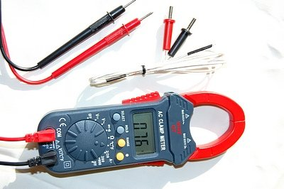 Clamp Meter Ammeter Digital Multimeter DMM Auto-Ranging w/Type K Thermocouple for Temperature+Test Leads HVAC Electric Field Service Repair Shop Tool Portable Multi-function