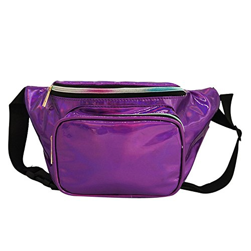 Waist Shoulder Fashion Women Laser Waterproof Pack Outdoor Messenger Chest Bum Bag Robemon Casual Bag Purple rOwzrBqS