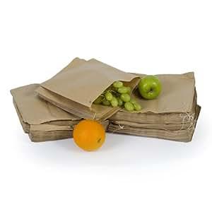 Unibags - Pack de 300bolsas de papel kraft para comida, 30 x 31 cm, color marrón