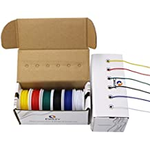CBAZY™ Hook up Wire Kit (Stranded Wire Kit) 26 Gauge 6 colors 32.8 feet Each Electrical Wire 26 AWG PVC wire