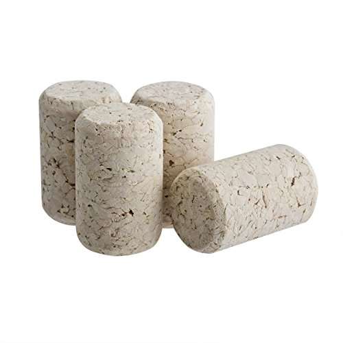 Omi 100 Pack Agglomerated Natural Wine Bottle Corks & Black Capsules - #9 Portugal Made 100 Wine Bottle Shrink Capsules Homemade Craft by Omi Home (Image #4)