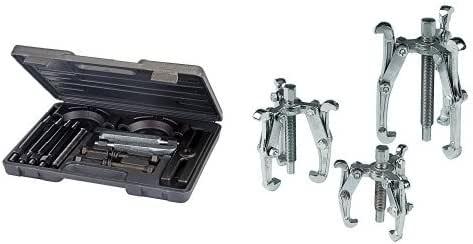 Silverline 783172 - Extractor y separador de rodamientos, 14 pzas (14 pzas) + MS23 - Extractores de poleas, 3 pzas (75, 100 y 150 mm): Amazon.es: Bricolaje y herramientas