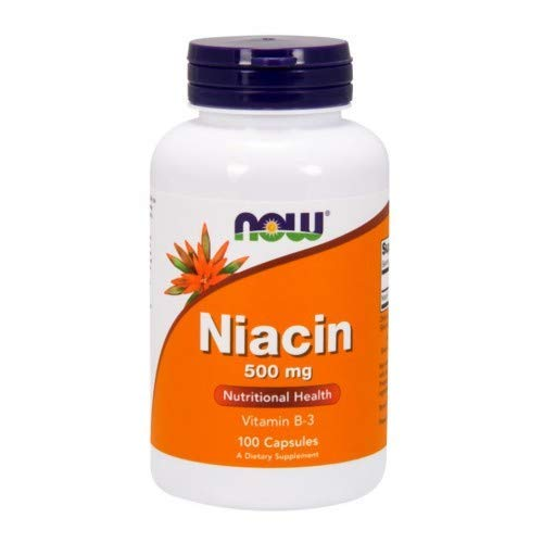 Niacin, 500Mg, 100 Caps by Now Foods (Pack of 2)