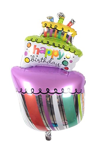 [Happy Birthday Cake MutiColor Foil Balloons Birthday party air Balls inflatable Ballons lovely] (Dance Central Character Costumes)