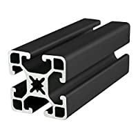 80/20 Inc., 40-4040-UL, 40 Series, 40mm x 40mm T-Slotted Extrusion x 2440mm Black by 80/20 Inc.