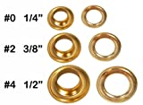 Clevr 300 pc. Brass Colored Grommets & Washers for