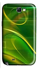Samsung Note 2 Case Green Abstract N003 3D Custom Samsung Note 2 Case Cover