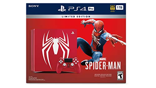 PlayStation 4 Pro 1TB Limited Edition Console – Marvel's Spider-Man Bundle [Discontinued] (Certified Refurbished)