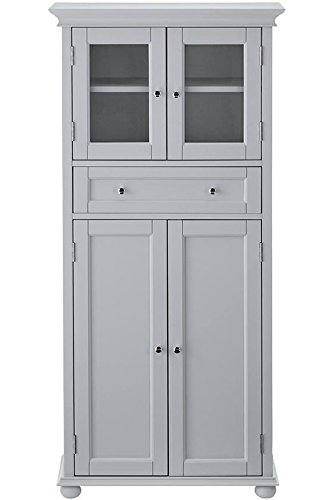 Home Decorators Collection Hampton Bay 1 Drawer Tall Bath Cabinet, 4-Door, Dove ()