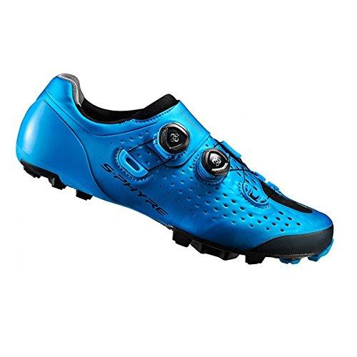Shimano Zapatillas s-phyre xc9MTB sh-xc900sb Azul Talla 45.5(Zapatillas MTB)