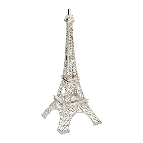Silver Metal Eiffel Tower centerpiece or cake topper silver gold bronze black colors (silver) (13
