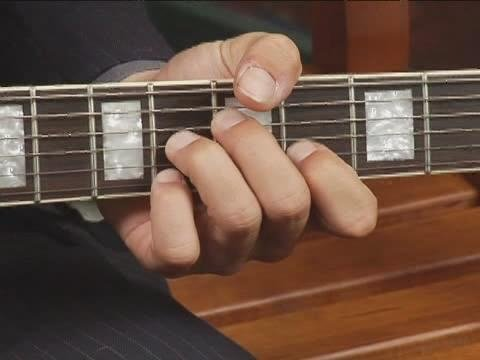 Play Eb7 Chord On The Top Guitar Strings 1st Inversion
