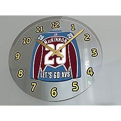 Hockey Legends Wall Clocks - 12 X 12 X 2 N H L Jersey Themed Legend Clock (N.MacKinnon 29 COL Edition)