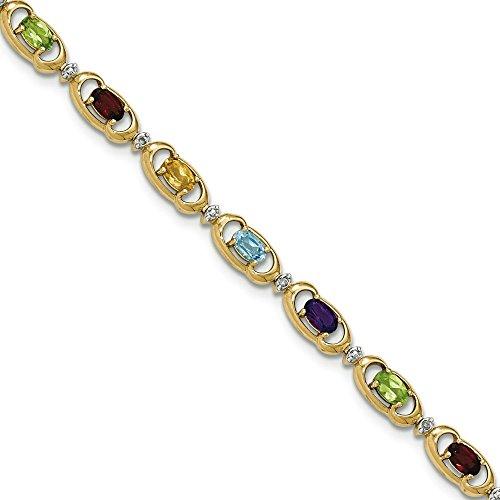 14 carats-Diamant-JewelryWeb Bracelet arc-en-ciel