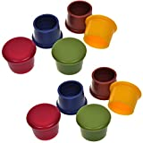 Pack of 10 Assorted Colors Silicone Reusable Wine Bottle Caps/Beer Sealer Cover
