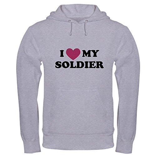CafePress Soldier1 Pullover Hoodie, Classic & Comfortable Hooded Sweatshirt Heather Grey