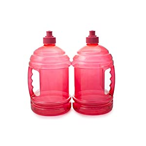 2 H2O On The Go Red Water Bottles With Handle