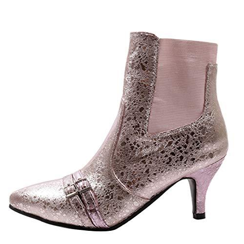 Aiyoumei Stivali Aiyoumei Pink Classici Stivali Donna 18HSqWURvw