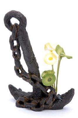 Penn-Plax Sunken Gardens Anchor with Plant Medium Aquarium Decorative Resin Ornament