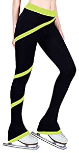 Figure Skating Spiral Polartec Polar Fleece Pants - Lime (Adult Extra Small)