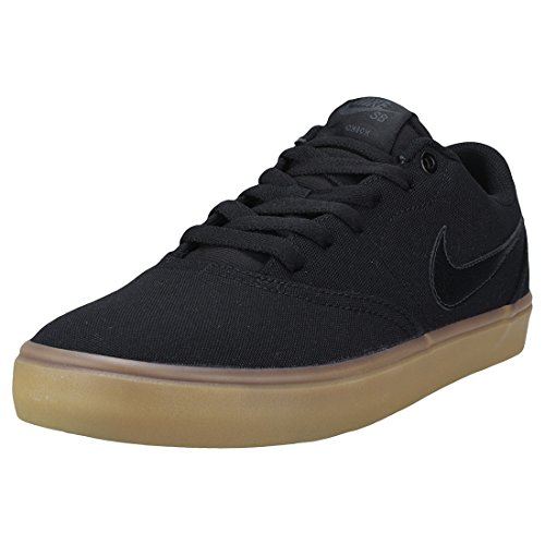 Nike Herren SB Check Solar CNVS Sneakers Schwarz (Black/Black/Gum Light Brown 001)