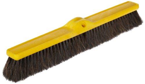 (Rubbermaid Commercial Fine Floor Sweep, Horsehair and Tampico, Plastic Broom Head, 24