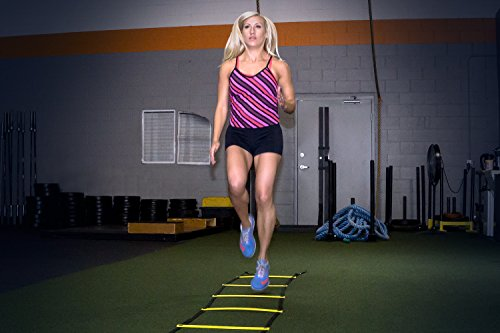 ProSource Speed Agility Ladder 8, 12, and 20 rung for Speed Training and Sports Agility Workouts with Free Carrying Bag