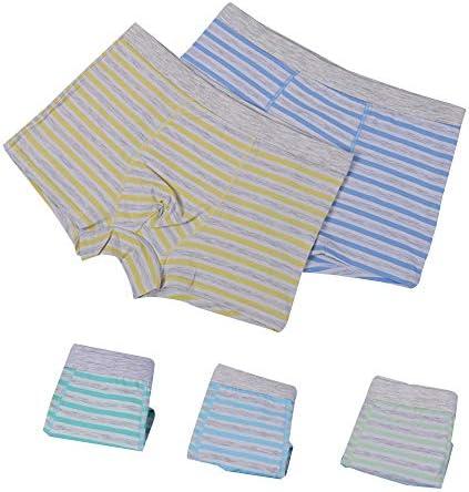 キッズ ボクサーパンツ パンティー 5枚セット 男の子パンツ ボーイズ 下着 綿 シンプル 9-14歳