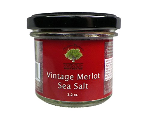 Flavored Natural Sea Salt Unique Flavors TWO 3.2 Ounce Jars Use As Gourmet Finishing Salt Or In Recipes (Vintage (Sutter Merlot)