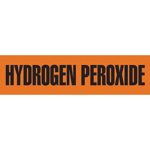 GHS Safety PM1185RB, Pipe Marker,''Hydrogen Peroxide'', Pack of 50 pcs