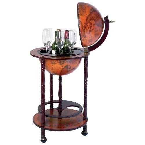 Globe Bar Liquor Cabinet Sixteenth-century Italian Replica Old World Bar Cabinets