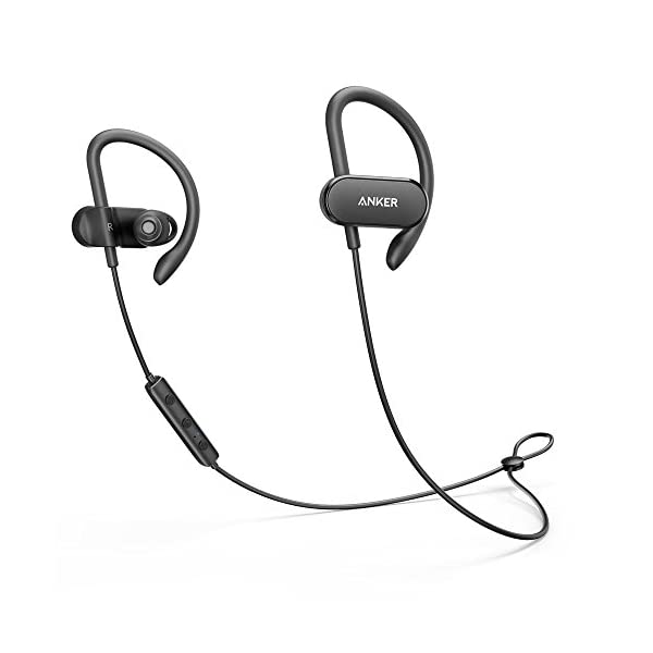 [Upgraded] Anker SoundBuds Curve Wireless Headphones, 18H Battery, IPX7 Waterproof Bluetooth Headphones, Bluetooth 5.0… 1