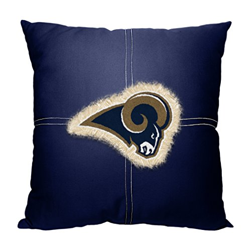 Rams OFFICIAL National Football League, 18 x 18 Letterman Pillow by Northwest Official