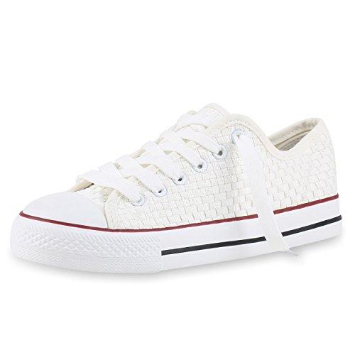 Best-botas para mujer zapatilla zapatillas zapatos de cordones estilo deportivo Weiss Bianco Nuovo
