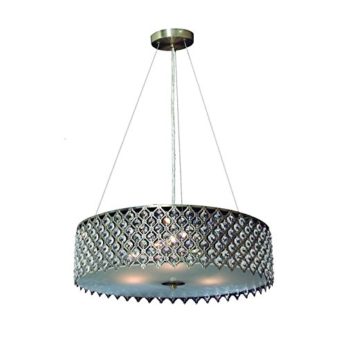 Tiara Crystal Chandelier - Decor Living 104327-15 Tiara 3-Light Crystal and Chrome Chandelier