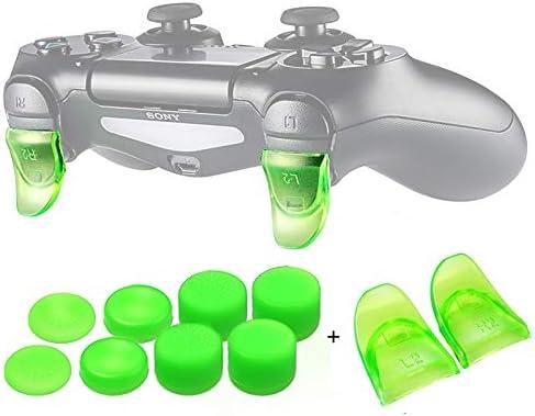 CXBH プレイステーション4 PS4 / PS4スリム/ Proのゲームコントローラ付属品のためのデータFROG 1ペアL2、R2ボタントリガーエクステンダーゲームパッドパッド (色 : 04)