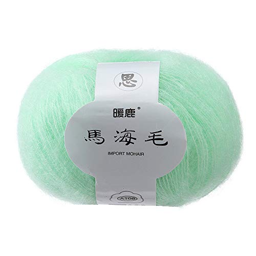 Gotian Hand-Woven Soft Mohair Knitting Wool Yarnn, DIY Shawl Scarf Crochet Thread Supplies Warm Soft Natural Hat Baby Crochet Knitwear Household Hand Knitting (E)