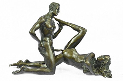 Handmade European Bronze Sculpture Two Pcs Vienna Erotic Figurine Art Nouveau Sexual Sex Figure Bronze Statue -1X-ST-025-Decor Collectible Gift by Bronzioni