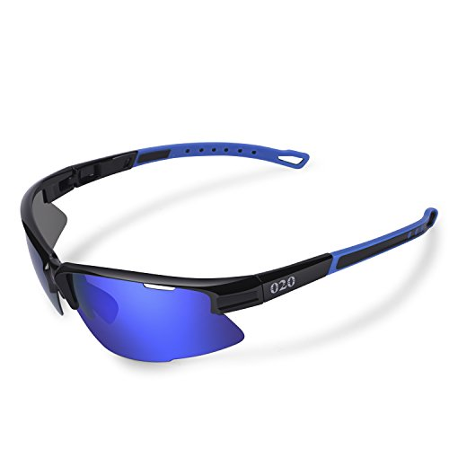 - O2O Polarized Sports Sunglasses Tr90 Frame Comfortable and Fit for Running Golf Driving Baseball Softball Cycling Fishing Beach Men Women Teens