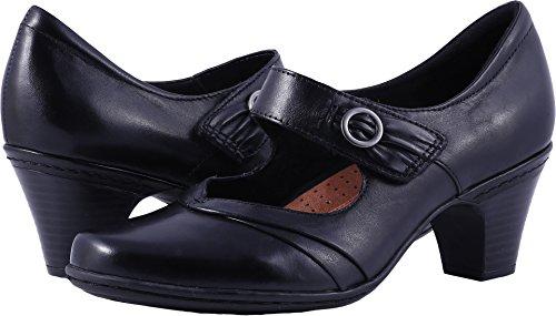 Comfortable Black Dress Shoes - Rockport Cobb Hill Women's Salma-Ch Dress Pump, Black, 9.5 W US